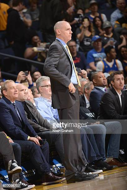 Head Coach Rick Carlisle of the Dallas Mavericks is seen against the Golden State Warriors on November 9 2016 at ORACLE Arena in Oakland California...