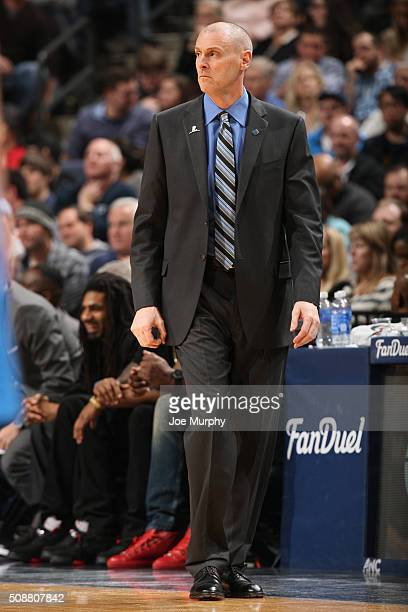 Head coach Rick Carlisle of the Dallas Mavericks looks on during the game against the Memphis Grizzlies on February 6 2016 at FedExForum in Memphis...