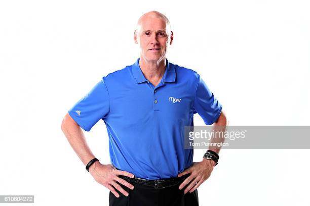 Head coach Rick Carlisle of the Dallas Mavericks poses for a portrait during the Dallas Mavericks Media Day held at American Airlines Center on...