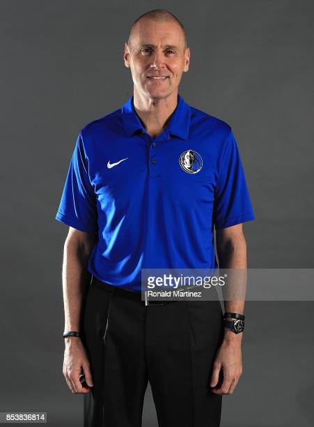 Head coach Rick Carlisle of the Dallas Mavericks poses for a portrait during Dallas Mavericks media day at American Airlines Center on September 25...
