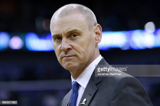 Head coach Rick Carlisle of the Dallas Mavericks reacts during a game against the New Orleans Pelicans at the Smoothie King Center on March 29 2017...