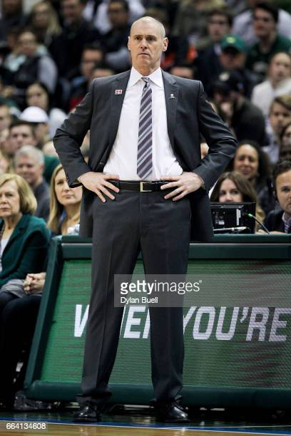Head coach Rick Carlisle of the Dallas Mavericks watches the game in the fourth quarter against the Milwaukee Bucks at BMO Harris Bradley Center on...