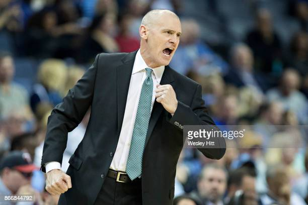Head Coach Rick Carlisle of the Dallas Mavericks yells to the officials during a game against the Memphis Grizzlies at the FedEx Forum on October 26...