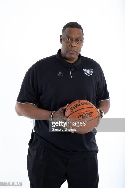 Head coach Rick Mahorn of Enemies poses for a portrait during week one of the BIG3 three on three basketball league at Little Caesars Arena on June...