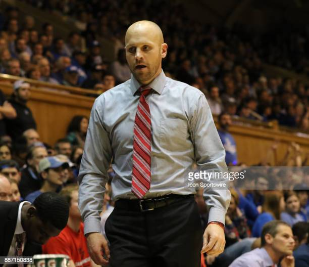 Head Coach Rob Krimmel for St Francis Red Flash during the 1st half of the Duke Blue Devils game versus the StFrancis on December 05 at Cameron...