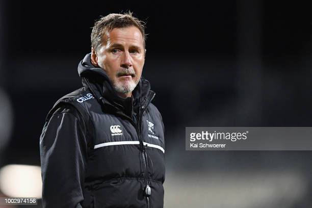 Head Coach Robert du Preez of the Sharks looks on prior to the Super Rugby Qualifying Final match between the Crusaders and the Sharks at AMI Stadium...