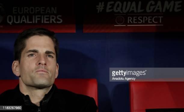 Head coach Robert Moreno of Spain is seen during the UEFA Euro 2020 Group F qualifying match between Spain and Romania at Wanda Metropolitano Stadium...
