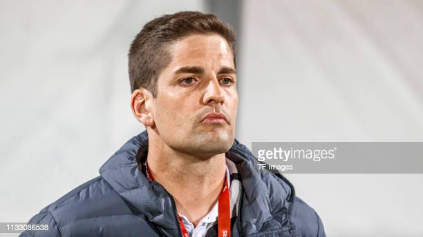 head coach Robert Moreno of Spain looks on after the 2020 UEFA European Championships group F qualifying match between Malta and Spain at Ta'Qali...
