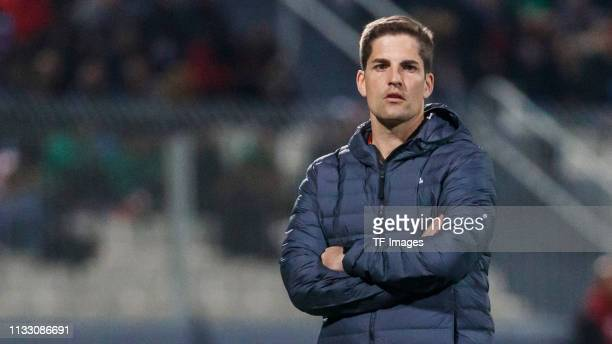 head coach Robert Moreno of Spain looks on during the 2020 UEFA European Championships group F qualifying match between Malta and Spain at Ta'Qali...