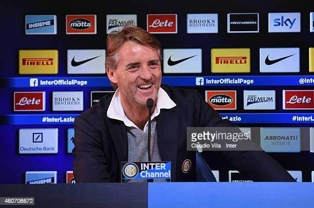 Head coach Roberto Mancini during FC Internazionale Press Conference at Appiano Gentile on December 20 2014 in Como Italy