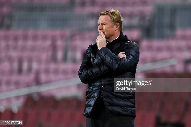 Head coach Ronald Koeman of FC Barcelona during the UEFA Champions League Group G stage match between FC Barcelona and Juventus at Camp Nou on...