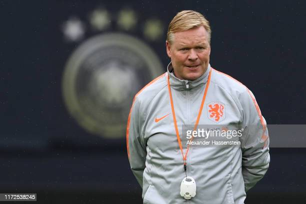 Head coach Ronald Koeman of Holland looks on during a training session of the Netherlands national team prior to the UEFA Euro 2020 Qualifier match...
