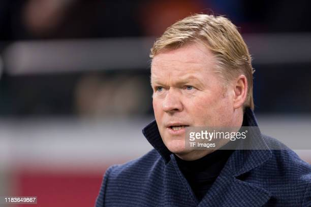 Head coach Ronald Koeman of Netherlands looks on prior to the UEFA Euro 2020 Qualifier between The Netherlands and Estonia on November 19, 2019 in...