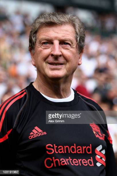 Head coach Roy Hodgson of Liverpool looks on before the pre-season friendly match between Borussia M'Gladbach and Liverpool at the Borussia Park...