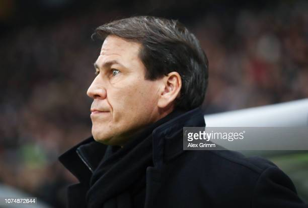 Head coach Rudi Garcia of Marseille looks on prior to the UEFA Europa League Group H match between Eintracht Frankfurt and Olympique de Marseille at...