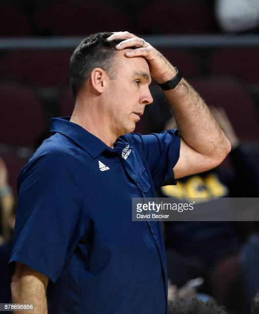 Head coach Russell Turner of the UC Irvine Anteaters gestures during the 2017 Continental Tire Las Vegas Invitational basketball tournament against...
