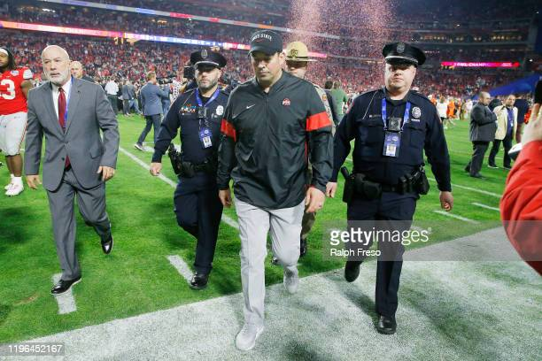 Head coach Ryan Day of the Ohio State Buckeyes walks off the field after his teams loss to the Clemson Tigers in the College Football Playoff...