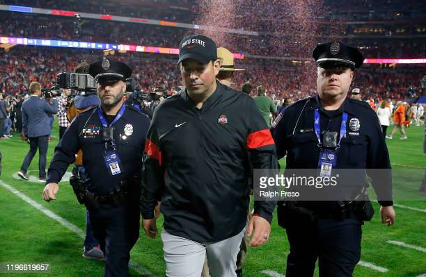 Head coach Ryan Day of the Ohio State Buckeyes walks off the field after his teams 29-23 loss to the Clemson Tigers in the College Football Playoff...