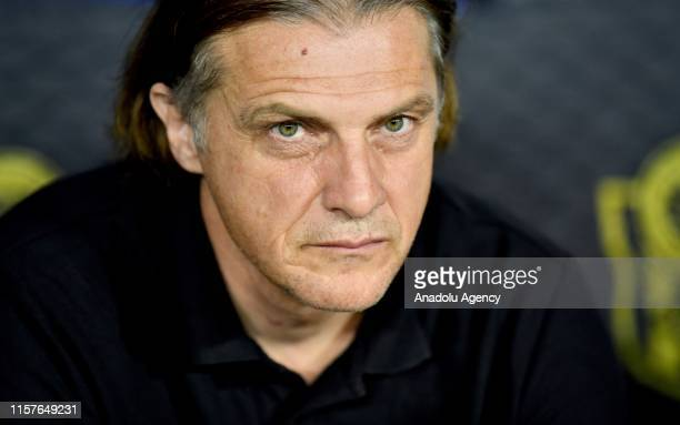 Head coach Safet Hadzic of Olimpija Ljubljana is seen during the UEFA Europa League second qualifying match between Yeni Malatyaspor and Olimpija...