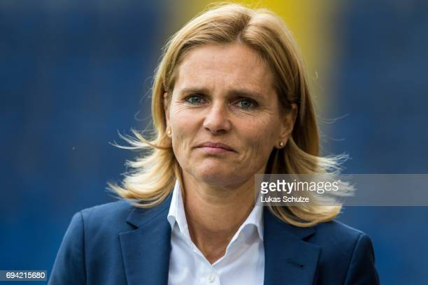 Head Coach Sarina Wiegman of Netherlands looks on prior to the Women's International Friendly match between Netherlands and Japan at Rat Verlegh...