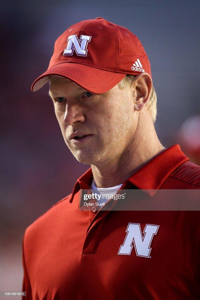 5401da543c377 Head coach Scott Frost of the Nebraska Cornhuskers looks on before ...