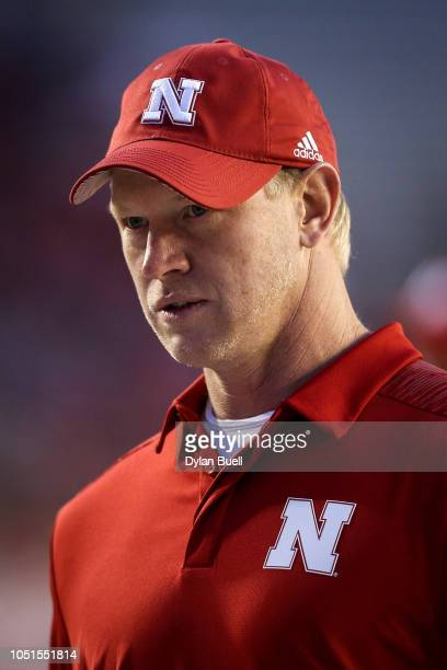 Head coach Scott Frost of the Nebraska Cornhuskers looks on before the game against the Wisconsin Badgers at Camp Randall Stadium on October 6 2018...