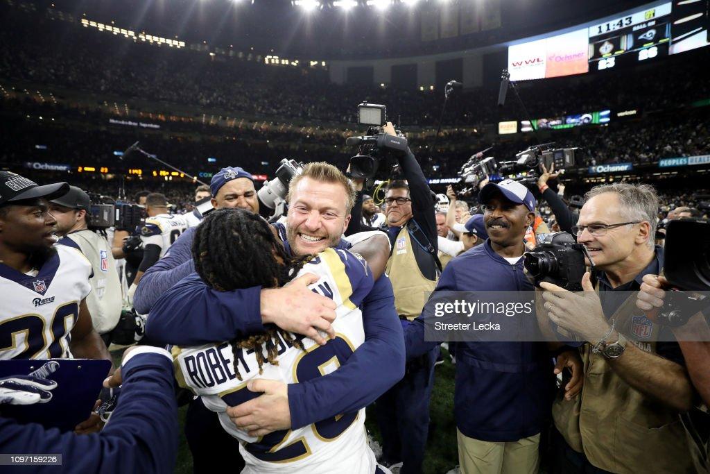 NFC Championship - Los Angeles Rams v New Orleans Saints : ニュース写真
