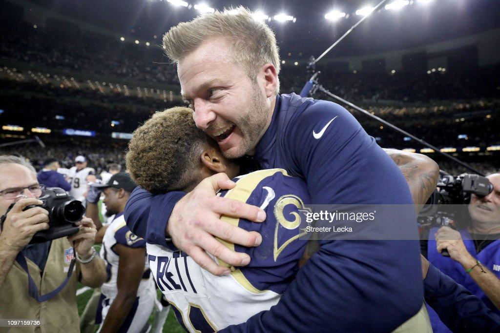 NFC Championship - Los Angeles Rams v New Orleans Saints : Nachrichtenfoto