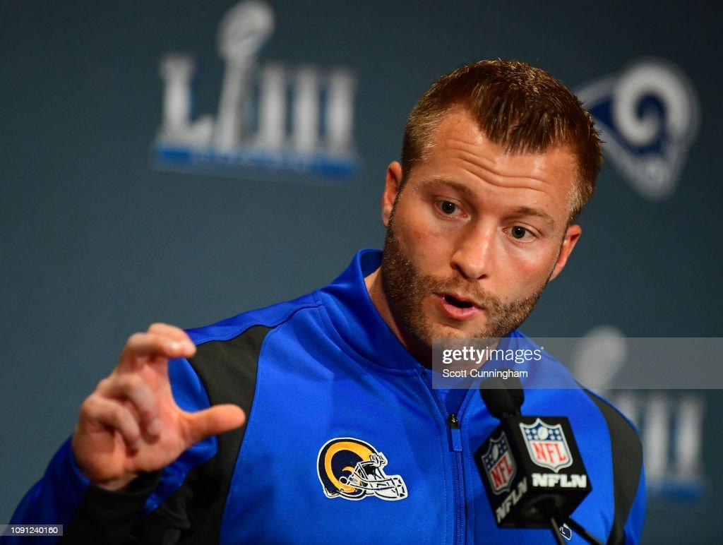 Super Bowl LIII - Media Availability - Los Angeles Rams : News Photo