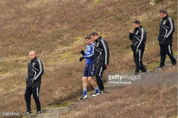 Head coach Seppo Eichkorn, Klaas-Jan Huntelaar, condition coach Markus Zetlmeisl, condition coach Werner Leuthard and assistant coach bernd...