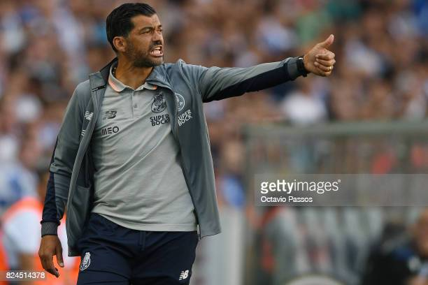 Head coach Sergio Conceicao of FC Porto reacts during the PreSeason Friendly match between FC Porto and RC Deportivo La Coruna at Estadio do Dragao...