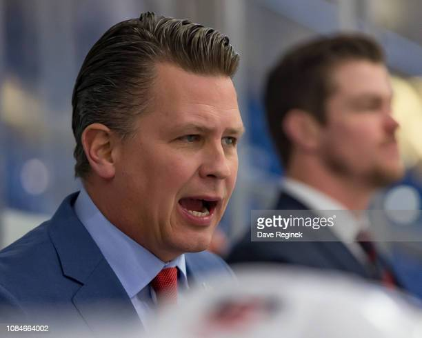 Head coach Seth Appert of the US Nationals watches the action from the bench against the Slovakia Nationals during game two of day one of the 2018...