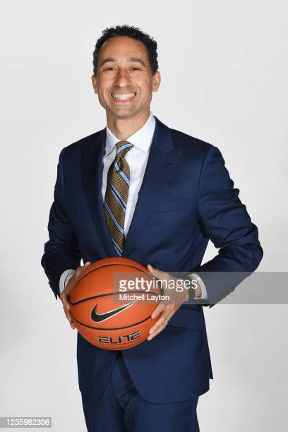 Head coach Shaka Smart of the Marquette Golden Eagles poses for a photo during the Big East Media Day at Madison Square Garden on October 19, 2021 in...