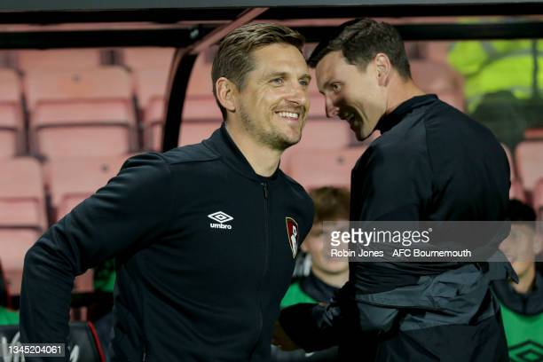 Head Coach Shaun Cooper of Bournemouth u23's during the Premier League Cup match between AFC Bournemouth U23 and Arsenal U23 at Vitality Stadium at...