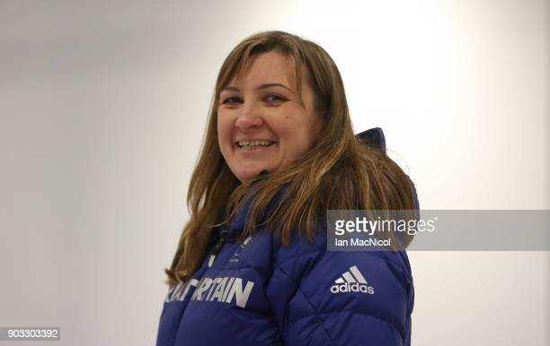 Head Coach Shelia Swan is photographed at announcement of the ParalympicsGB Wheelchair Curling Team at The National Curling Centre on January 10 2018...
