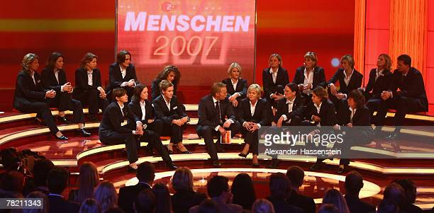 Head coach Silvia Neid and the Players of the German National Football Team attend the ZDF Menschen 2007 TV show produced at the Bavaria Film Studios...