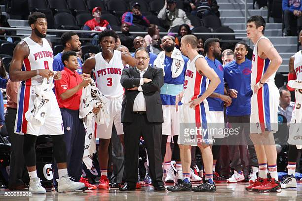 Head coach Stan Van Gundy of the Detroit Pistons during the game against the Memphis Grizzlies on December 9 2015 at The Palace of Auburn Hills in...