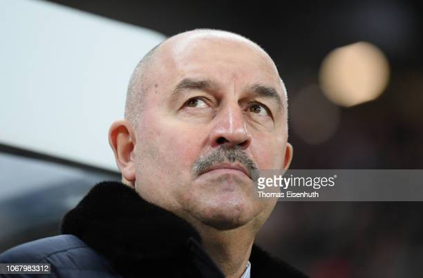 Head coach Stanislav Cherchesov of Russia seen during the International Friendly match between Germany and Russia at Red Bull Arena on November 15...