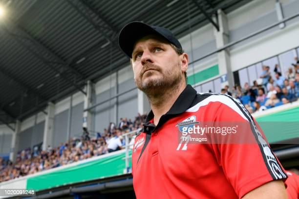 Christian Strohdiek of Paderborn controls the ball during the DFB Cup first round match between SC Paderborn 07 and FC Ingolstadt 04 at Benteler...