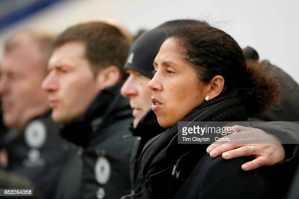 Head coach Steffi Jones of Germany on the sideline during the France Vs Germany SheBelieves Cup International match at Red Bull Arena on March 4 2017...