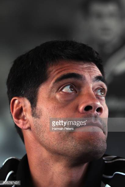 Head coach Stephen Kearney listens to questions from the media during a Four Nations Media Conference at Mt Smart Stadium on October 14 2010 in...