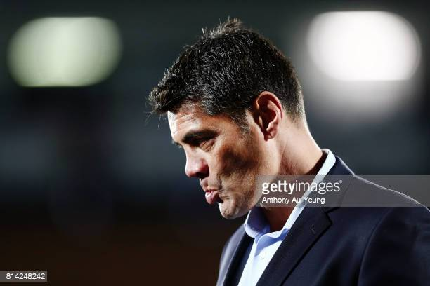 Head Coach Stephen Kearney of the Warriors looks on after losing the round 19 NRL match between the New Zealand Warriors and the Penrith Panthers at...