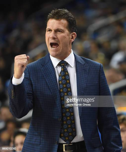 Head coach Steve Alford of the UCLA Bruins in the first half of the game against the Detroit Mercy Titans at Pauley Pavilion on December 3 2017 in...