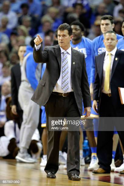 Head coach Steve Alford of the UCLA Bruins looks on in the first half against the Kentucky Wildcats during the 2017 NCAA Men's Basketball Tournament...