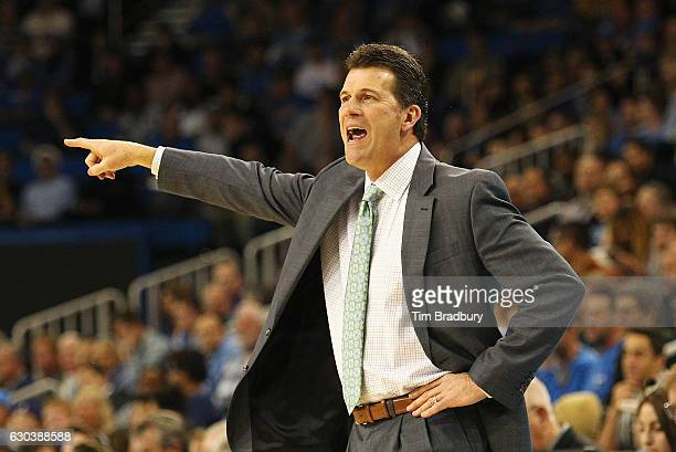 Head coach Steve Alford of the UCLA Bruins reacts during the first half against the Western Michigan Broncos at Pauley Pavilion on December 21 2016...