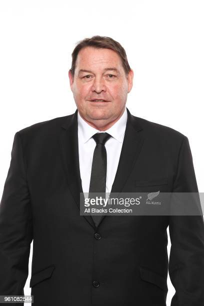 Head Coach Steve Hansen poses during a New Zealand All Blacks headshots session on May 21 2018 in Auckland New Zealand