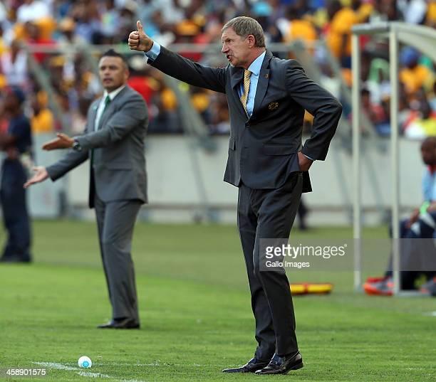 Head coach Stuart Baxter of Kaizer Chiefs during the Absa Premiership match between AmaZulu and Kaizer Chiefs at Moses Mabida Stadium on December 22,...