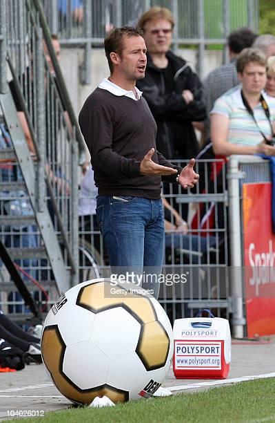 Head Coach Sven Kahlert of Frankfurt during the Women's bundesliga match between FCR Duisburg and FFC Frankfurt at the PCCStadium on September 11...