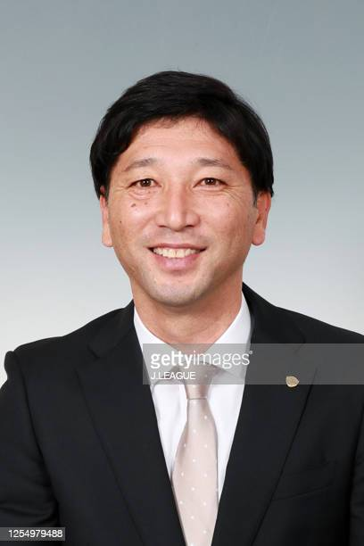 Head coach Takashi Kiyama poses for photographs during the Vegalta Sendai portrait session on January 9, 2020 in Japan.