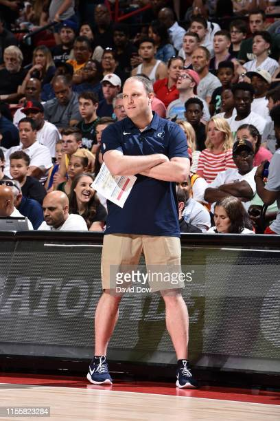 Head Coach Taylor Jenkins of the Memphis Grizzlies looks on during a game against the Minnesota Timberwolves during the Finals of the Las Vegas...